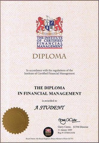 Институт международных стандартов учета и управления Диплом ИСФМ